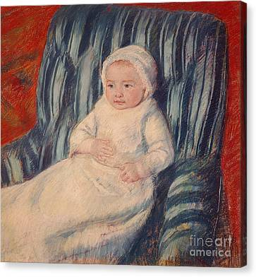 Innocence Canvas Print - Child On A Sofa by Mary Cassatt