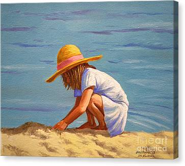 Child Playing In The Sand Canvas Print