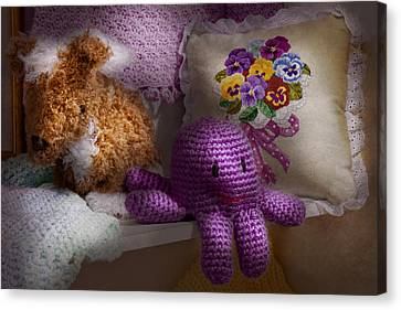 Child - Toy - Octopus In My Closet  Canvas Print by Mike Savad