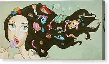 Etch A Sketch Canvas Print - Childhood Memories by Dania Piotti