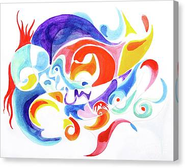 Childhood Phantasm  Canvas Print by Expressionistart studio Priscilla Batzell