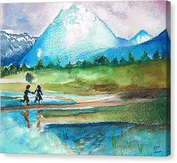Childhood Canvas Print by Zara GDezfuli