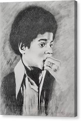 Michael Jackson Sketch Canvas Print - Childlike by Cassy Allsworth