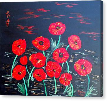 Childlike Poppies Canvas Print by Alanna Hug-McAnnally