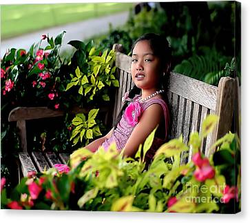 Canvas Print featuring the photograph Children by Diana Mary Sharpton