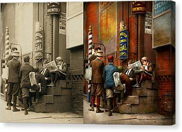 Canvas Print - Children - Morning Meeting 1910 - Side By Side by Mike Savad
