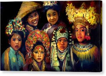 Children Of Asia Canvas Print by Jean Hildebrant