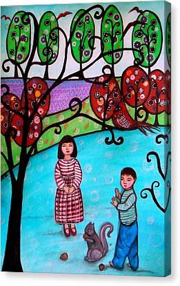 Children Playing Canvas Print by Pristine Cartera Turkus