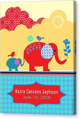 Children's Elephant Poster Canvas Print by Misha Maynerick