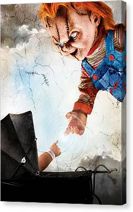 Chucky Canvas Print - Childs Play 5 Seed Of Chucky 2004 by Unknow