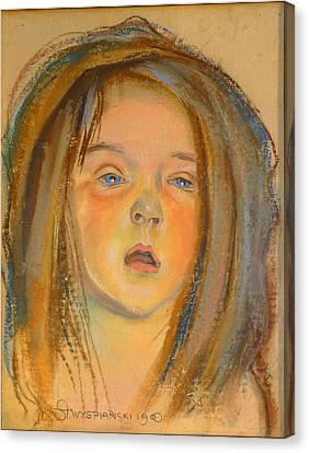 Child's Portrait By Wyspianski Canvas Print by Magdalena Walulik