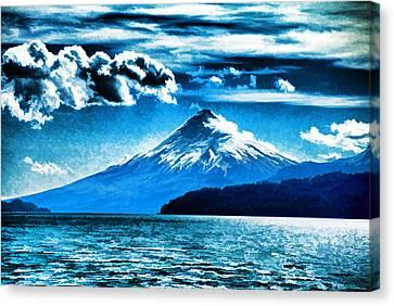 Chilean Volcano Canvas Print by Dennis Cox