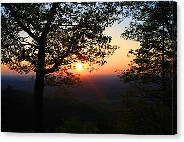 Canvas Print featuring the photograph Chilhowee Sunset by Kathryn Meyer
