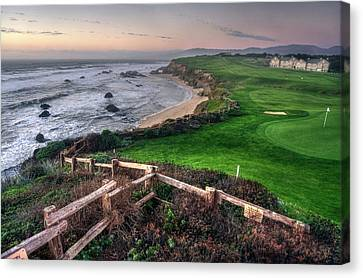 Canvas Print featuring the photograph Chilling At Half Moon Bay by Peter Thoeny
