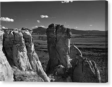 Chimney Rock And Cerro Pedernal 3 Canvas Print by Lou  Novick