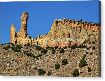 Brown Ranch Trail Canvas Print - Chimney Rock - New Mexico #3 by Stuart Litoff
