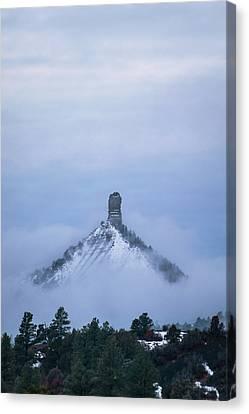 Chimney Rock Rising Canvas Print by Jason Coward