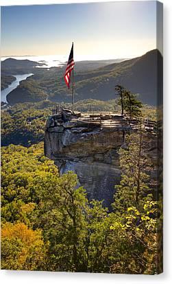 Chimney Rock State Park North Carolina Canvas Print by Dustin K Ryan