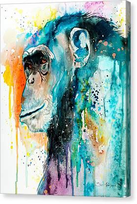 Chimpanzee 2 Canvas Print by Slavi Aladjova