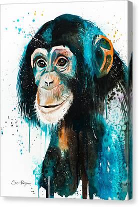 Chimpanzee 3 Canvas Print by Slavi Aladjova
