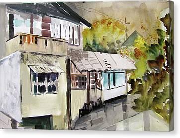 China Buildings Canvas Print
