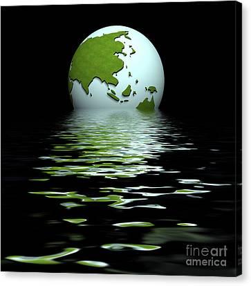 Geopolitics Canvas Print - China Centric World by Richard Wareham