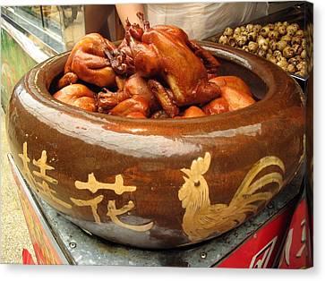 China Chicken In Market Canvas Print