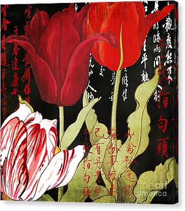 China Red Tulips Canvas Print