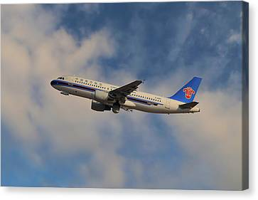 Airlines Canvas Print - China Southern Airlines Airbus A320-214 by Nichola Denny