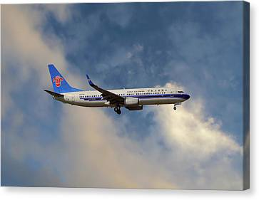 Airlines Canvas Print - China Southern Airlines Boeing 737-81q by Nichola Denny
