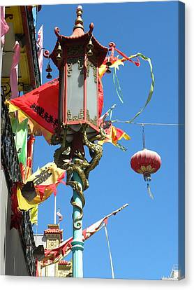 Canvas Print featuring the photograph China Town by Fanny Diaz