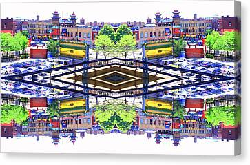 Chinatown Chicago 3 Canvas Print by Marianne Dow