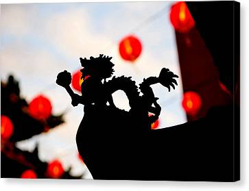 Chinatown Dragon Canvas Print by Dean Harte