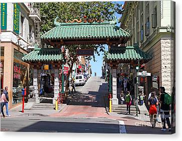 Chinatown Gate On Grant Avenue In San Francisco Canvas Print by Wingsdomain Art and Photography