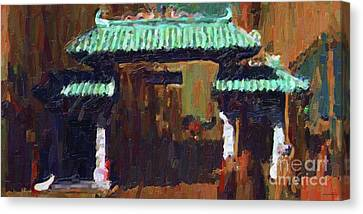 Chinatown Gate Canvas Print by Wingsdomain Art and Photography