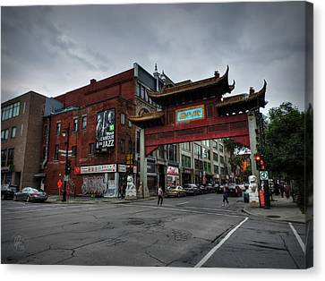 Chinatown Montreal 001 Canvas Print by Lance Vaughn