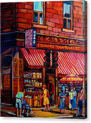 Chinatown Montreal Canvas Print by Carole Spandau