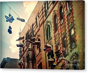 Chinatown Shoe Fling Canvas Print
