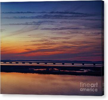 Water Canvas Print - Chincoteague Sunset by Tom Gari Gallery-Three-Photography