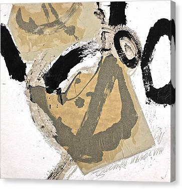Canvas Print featuring the painting Chine Colle by Cliff Spohn
