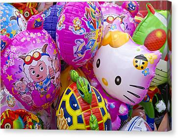 Chinese Balloons Canvas Print by Michele Burgess