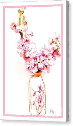 Canvas Print featuring the digital art Chinese Bouquet by Marsha Heiken