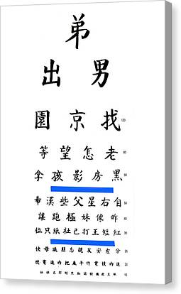 Chinese Eye Chart Canvas Print