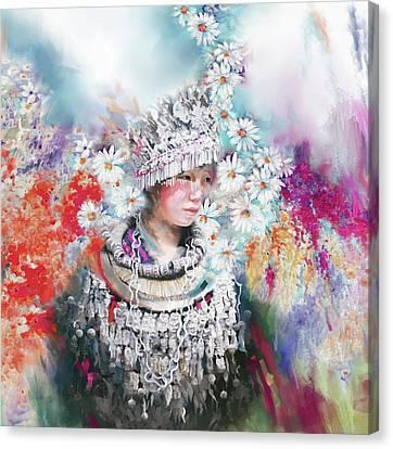 chinese girl 178 I Canvas Print by Mawra Tahreem