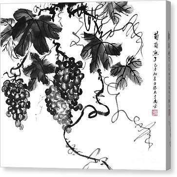 Chinese Grapes Canvas Print