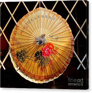 Canvas Print featuring the photograph Chinese Hand-painted Oil-paper Umbrella by Yali Shi