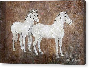 Chinese Horses Canvas Print