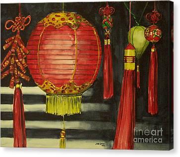 Chinese Lanterns No. 1 Canvas Print