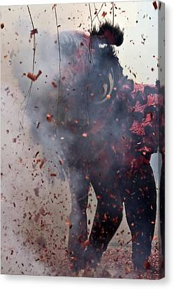 Chinese New Year Action Canvas Print by Sven Brogren