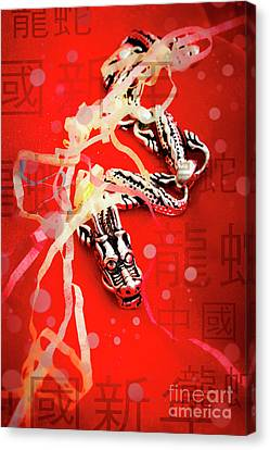 Chinese New Year Background Canvas Print by Jorgo Photography - Wall Art Gallery